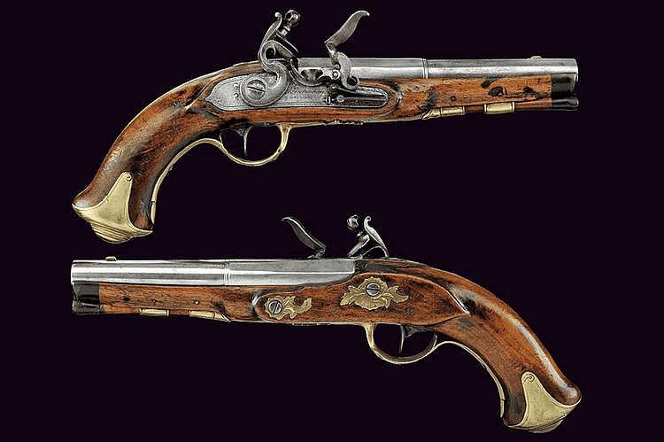 A pair of flintlock pistols by Giebenhan