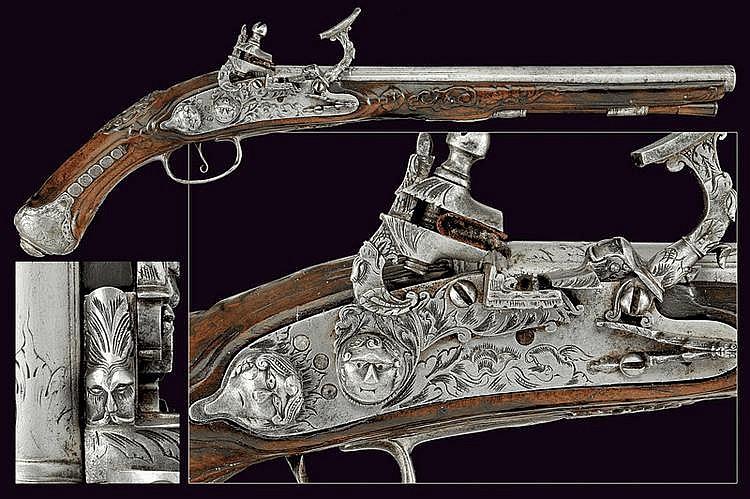 A fine flintlock snaphaunce pistol