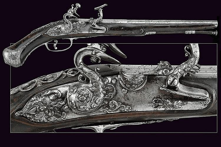 A beautiful flintlock pistol by Ghini