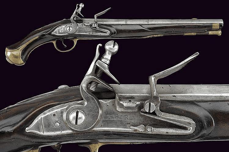 A flintlock pistol by Behr