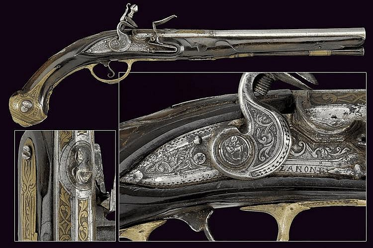 A flintlock pistol by Zanoni