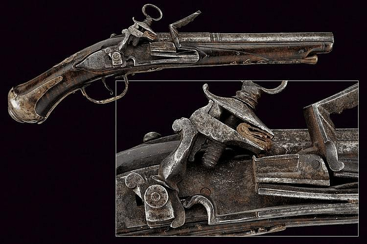 A flitlock pistol