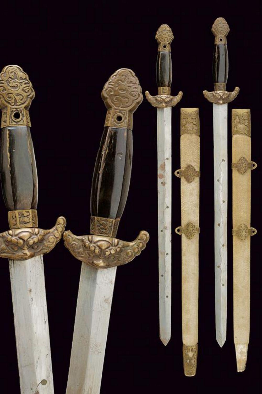 A pair of jian (swords)