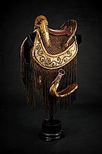 A beautiful and rare kura (saddle) with abumi and saddle blanket
