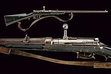 A breechloading Dreyse rifle converted to hunting use, dating: third quarter of the 19th Century, provenance: Germany, dating: third quarter of the 19th Century, provenance: Germany, Octagonal, rifled, 16 mm cal. barrel provided with foresight,