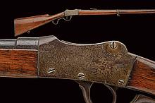 A breech-loading Martini system target rifle, dating: 1875-1890, provenance: Italy, dating: 1875-1890, provenance: Italy, Round, rifled barrel with finishing, marked 'MARTINI EXCELSIOR', with various stampa and the caliber mark '6 mm', adjustable