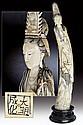 A beautiful ivory figure of Guanyin