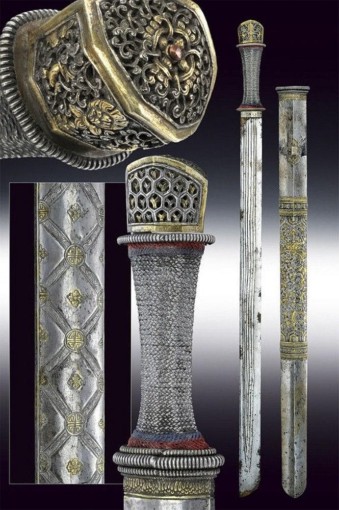A silver sword
