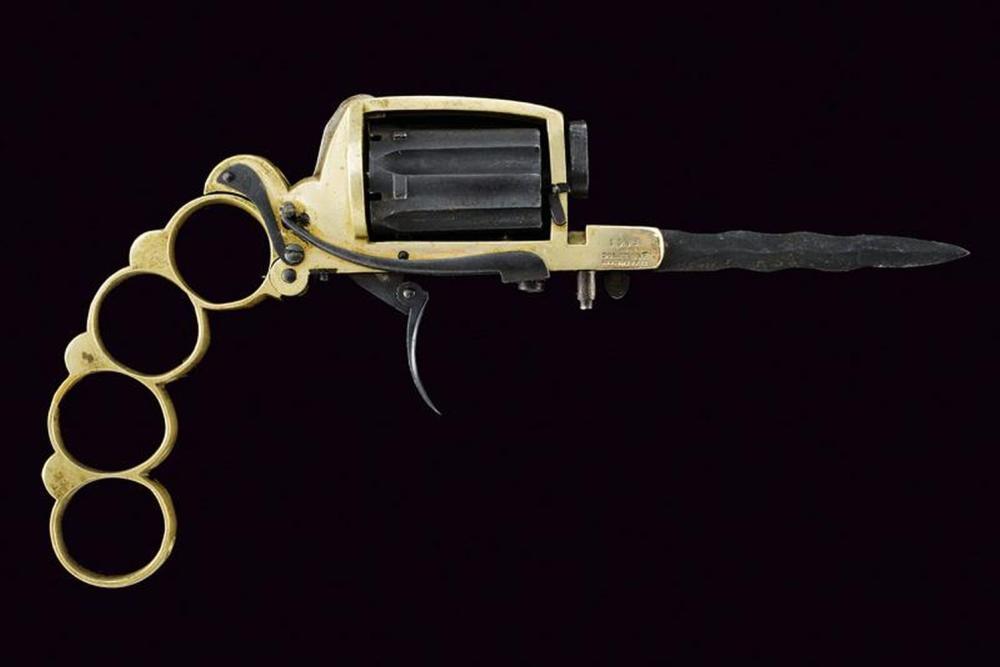 A rare apache type revolver by Dolne