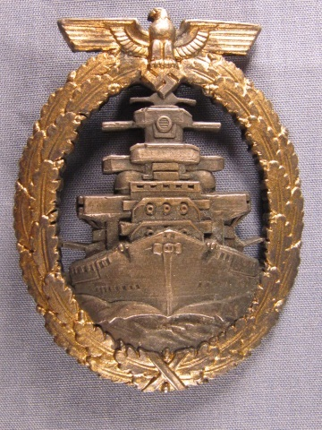 German WWII Navy High Seas Fleet War Badge