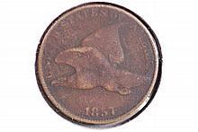 1857 Flying Eagle Cent - VG