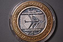 2000 McCarren Airport Silver Gaming Token