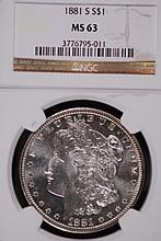 1881-S Morgan Silver Dollar - NGC MS63