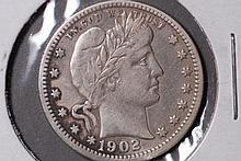1902 Barber Quarter - VF Details