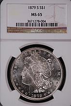 1879-S Morgan Silver Dollar - NGC MS65