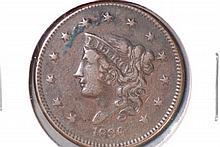 1836 Coronet Large Cent - XF