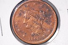 1842 Braided Hair Large Cent - VG Details