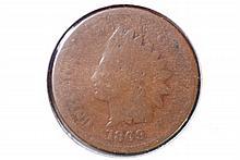 1869 Indian Head Cent - AG