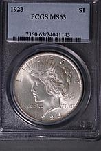1923 Peace Silver Dollar - PCGS MS63
