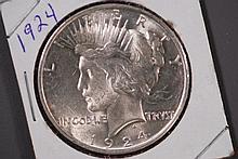 1924 Peace Silver Dollar - CH BU