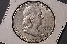 1952 -D Franklin Half Dollar - VF