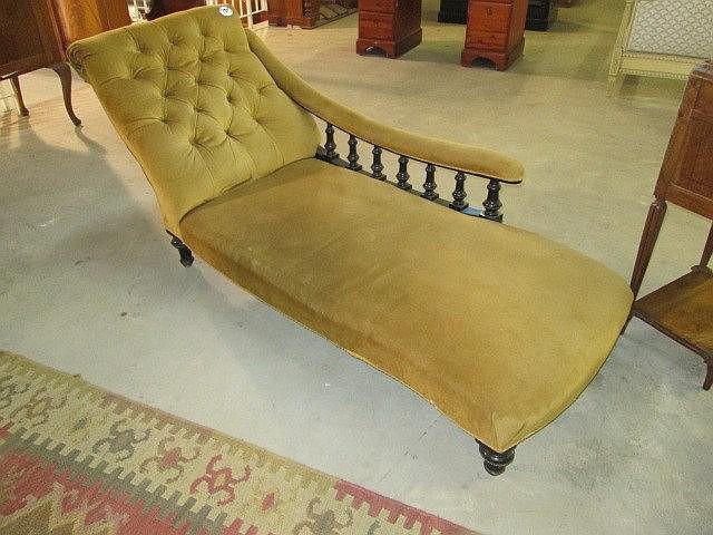 Ebonized Chaise Lounge