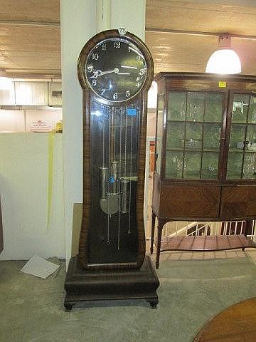 Art Deco Mahogany Grandfather Clock