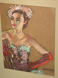 Natalie Field Pastel Painting (1898 -1977)