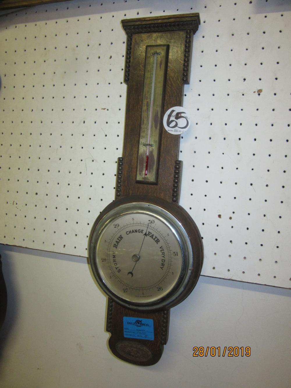 Oak Carved Barometer