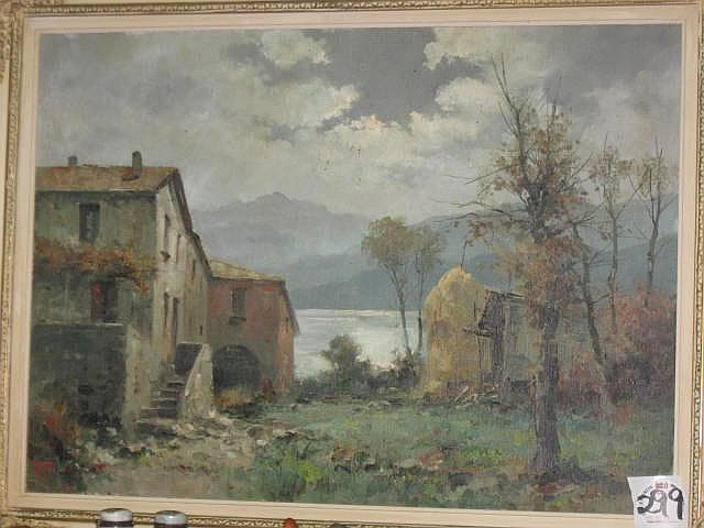 Ercole Magrotti Oil Painting (It 1890-1967)