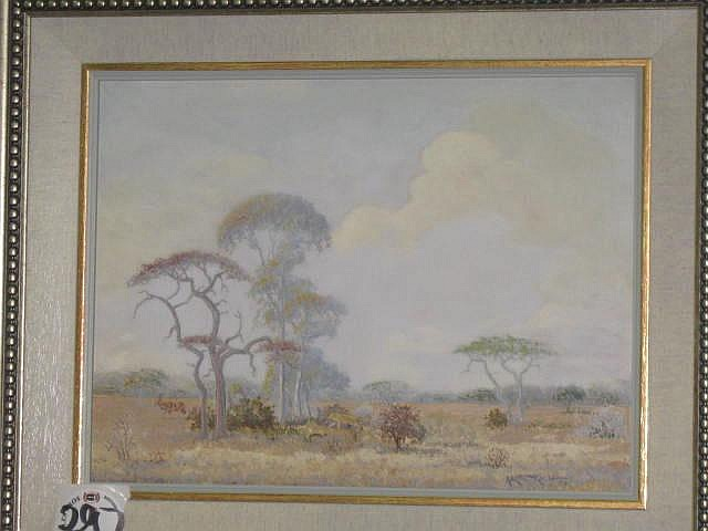 Martin Koch Oil Painting (1940- ) African
