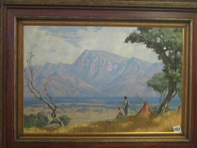 Willem H Coetzer Oil Painting (1900-1983) Valley