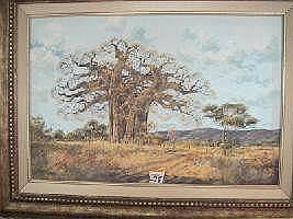 Francois Badenhorst Oil Painting (1934 - )