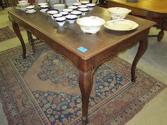 19thc French Oak Dining Table