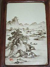 Signed Framed Chinese Tile
