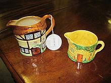 2 Porcelain Milk Jugs