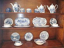 Johnson Bros Blue & White Tea Wares