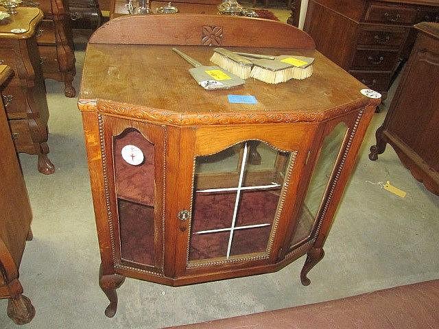 Carved Dutch Oak Cabinet