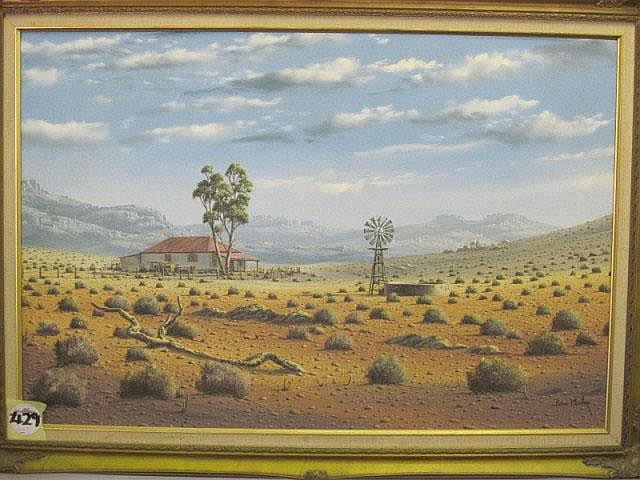 Paul Munro Oil Painting Karoo Dwelling with