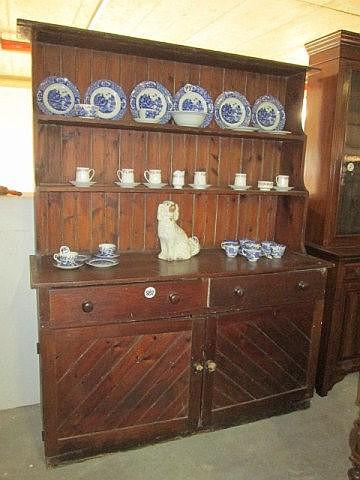 Edwardian Pine Kitchen Dresser