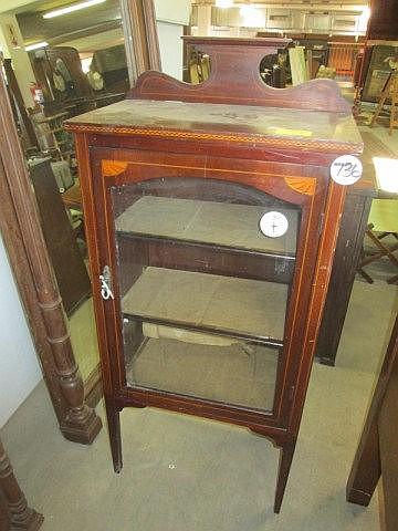 Edwardian Mahogany Inlaid Music Cabinet