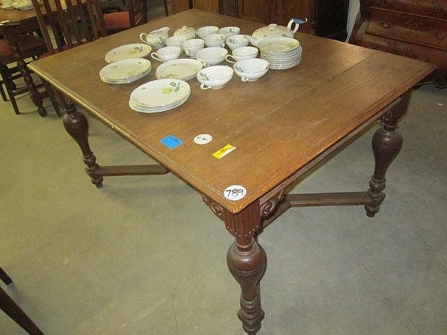 19thc Dutch Oak Dining Table