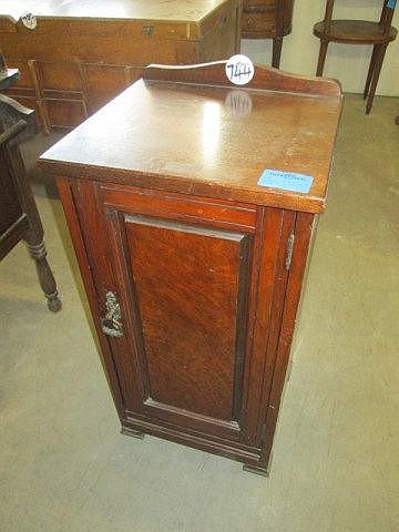 Edwardian Walnut Bedside Cupboard