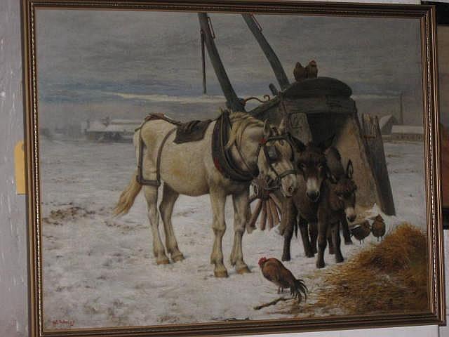 William Weekes Oil Painting (British1856-1909) :