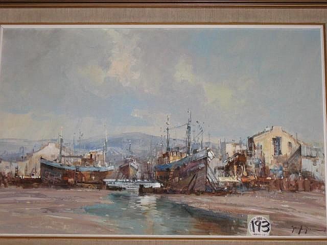 Gerrit Roon Oil Painting (1937- ) : Fishing Boats