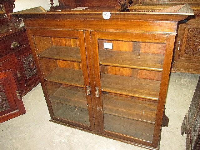 Edwardian Mahogany Bookcase Top
