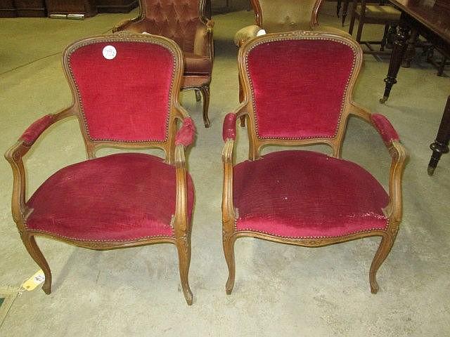Pair Louis Arm Chairs