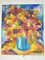 Cornelius Bosch Acrylic Painting (1956-2011)