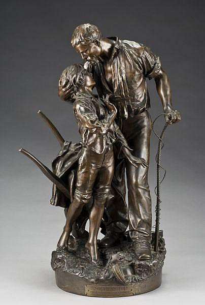 Henri Allouard bronze sculpture,