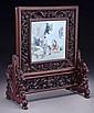 Chinese Qing Qianjian porcelain table screen